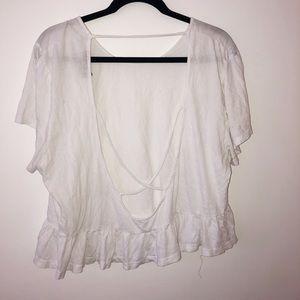 Trendy white t-shirt